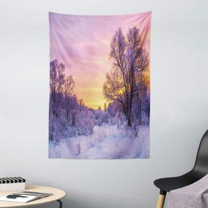 Snowy Forest Sunset Tapestry || Winter Landscape🌅